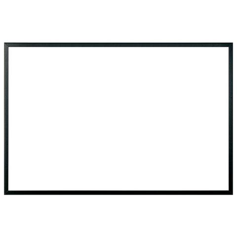 Доска магнитно-маркерная (80х120 см), черная рамка из МДФ, ECO,