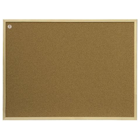 Доска пробковая для объявлений (100x200 см), коричневая рамка из МДФ, OFFICE,