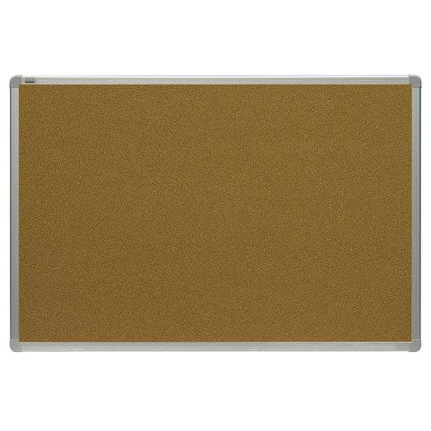 Доска пробковая для объявлений (120x180 см), алюминиевая рамка, OFFICE,