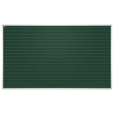 Доска для мела магнитная, 85x100 см, зеленая, в линию, алюминиевая рамка, EDUCATION