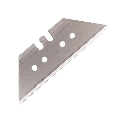 Лезвия для универсальных мощных ножей, 18 мм, BRAUBERG, КОМПЛЕКТ 5 ШТ., форма-трапеция, в пластиковом пенале, 236637