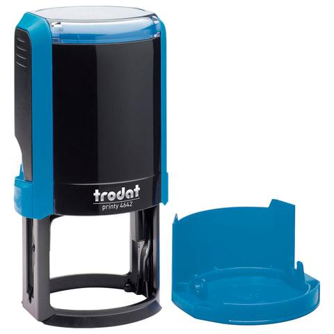 Оснастка для печати, оттиск D=42 мм, синий, TRODAT 4642 PRINTY 4.0, крышка, подушка, 66584