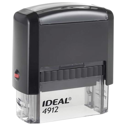 Оснастка для штампа, размер оттиска 47х18 мм, синий, TRODAT IDEAL 4912 P2, подушка в комплекте, 125420