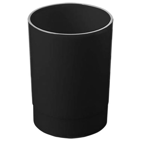 Подставка-органайзер СТАММ (стакан для ручек), 70х70х90 мм, черный, ОФ777