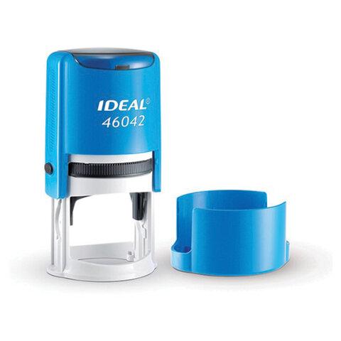 Оснастка для печати оттиск D= 42 мм, синий, TRODAT IDEAL 46042, подушка, корпус синий, 125310