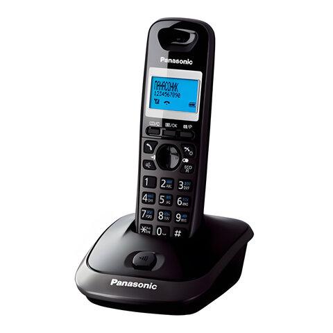 Радиотелефон PANASONIC KX-TG2511RUT, память 50 номеров, АОН, повтор, спикерфон, полифония, титановый