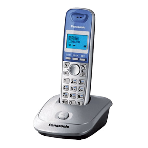 Радиотелефон PANASONIC KX-TG2511RUS, память 50 номеров, АОН, повтор, спикерфон, полифония, серебро