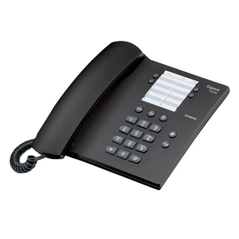 Телефон GIGASET DA 100, память на 14 номеров, повтор номера, тональный/импульсный набор, цвет антрацитовый, DA 100 RUS