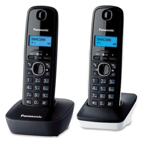 Радиотелефон PANASONIC KX-TG1612RU1 + дополнительная трубка, память 50 номеров, АОН, будильник, серый
