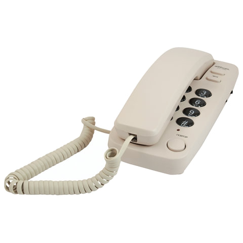 Телефон RITMIX RT-100 ivory, световая индикация звонка, отключение микрофона, слоновая кость, 15116915