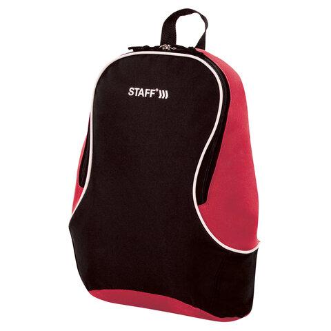 Рюкзак STAFF FLASH универсальный, черно-красный, 40х30х16 см, 270296