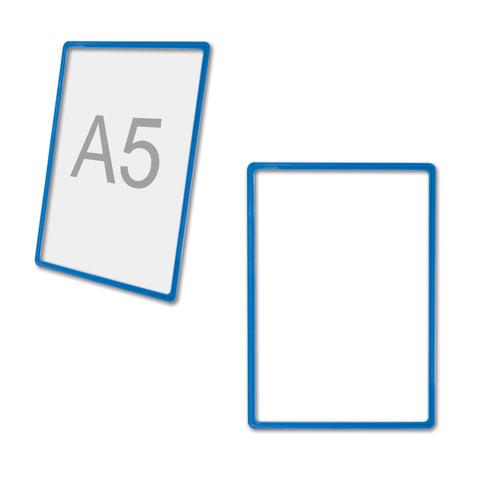 Рамка POS для ценников, рекламы и объявлений А5, размер 210х148,5 мм, синяя, без защитного экрана, 290258