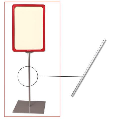 Трубка для сборки напольной стойки под рамку POS, высота 300 мм, диаметр 9 мм, 290266