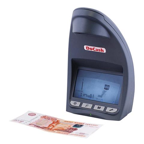 Детектор банкнот DOCASH LITE D, ЖК-дисплей 12 см, просмотровый, ИК-детекция, спецэлемент