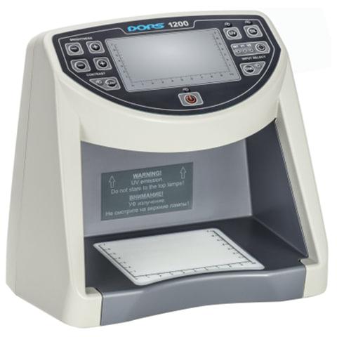 Детектор банкнот DORS 1200 M1, ЖК-дисплей 11 см, просмотровый, ИК-, УФ-детекция, спецэлемент