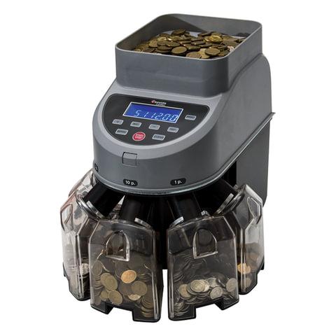 Счетчик-сортировщик монет CASSIDA Coin Max, 800 монет/мин., загрузка 1000 монет, 5 приемных лотков, 3661