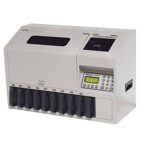 Счетчик-сортировщик монет CASSIDA CS-1000, 850 монет/мин., загрузка 1800 монет, 10 приемных лотков, 2496
