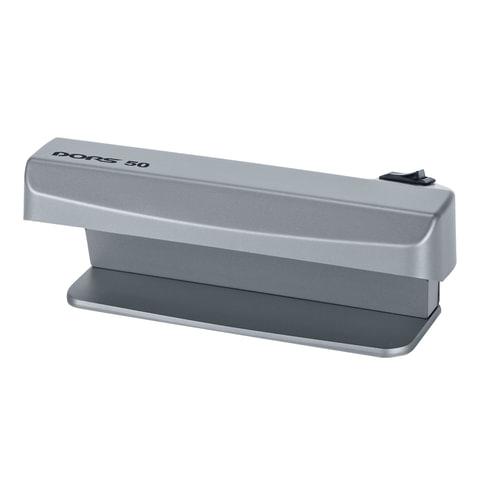 Детектор банкнот DORS 50, просмотровый, УФ-детекция, серый, SYS-033275