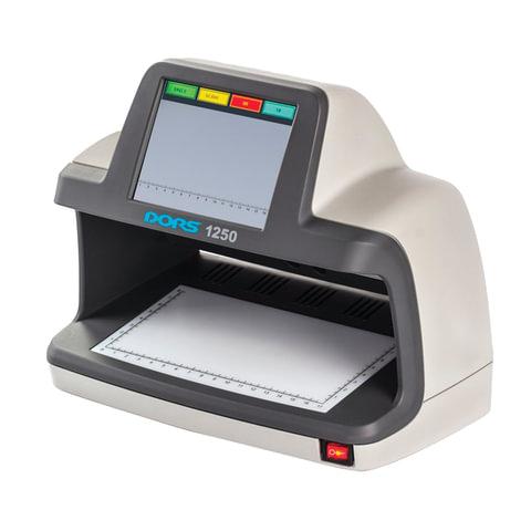 Детектор банкнот DORS 1250, ЖК-дисплей 13 см, просмотровый, ИК-, УФ-детекция спецэлемент