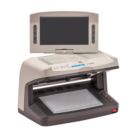 Детектор банкнот DORS 1300 M2, ЖК-дисплей 18 см, просмотровый, ИК, УФ, АНТИСТОКС, спецэлемент