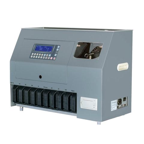 Счетчик-сортировщик монет MAGNER 910, 800 монет/мин., загрузка 800 монет, 10 приемных лотков, SYS-039535