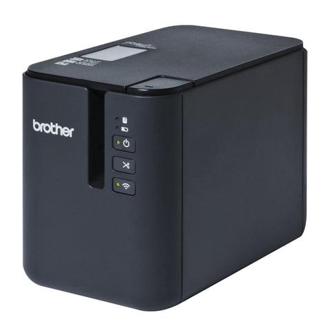 Принтер этикеток BROTHER PT-P900W, ширина ленты 3,5-36 мм, до 80 мм/сек., разрешение 360 т/дс, Wi-Fi, PTP900WR1