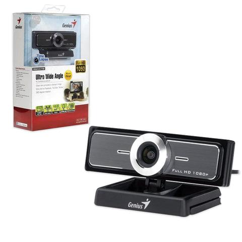 Веб-камера GENIUS Facecam Widecam F100, 12 Мп, микрофон, черный, 32200213101