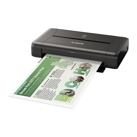 Принтер струйный CANON Pixma IP110, А4, 9600х2400, 9 стр./мин., Wi-Fi, портативный, работа от аккумулятора, 9596B029