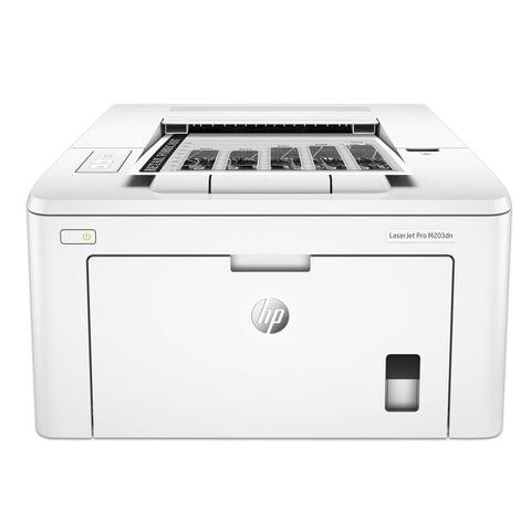 Принтер лазерный HP LaserJet Pro M203dn, А4, 28 стр./мин., 30000 стр./мес., ДУПЛЕКС, сетевая карта (без кабеля USB), G3Q46A