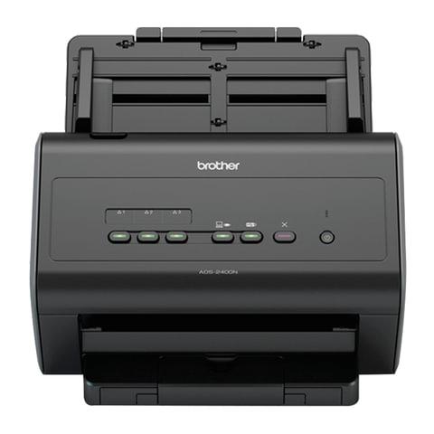 Сканер потоковый BROTHER ADS-2400N, А4, 1200х1200, 60 стр./мин., 3000 стр./день, АПД, сетевая карта (кабель USB в комплекте), ADS2400NUN1