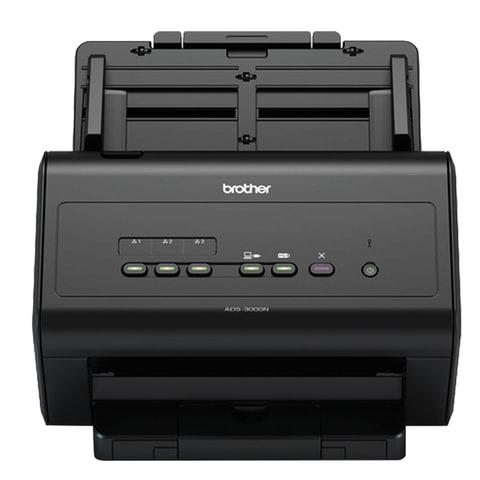 Сканер потоковый BROTHER ADS-3000N, А4, 1200х1200, 50 стр./мин, 5000 стр./день, АПД, сетевая карта (кабель USB в комплекте), ADS3000NUX1
