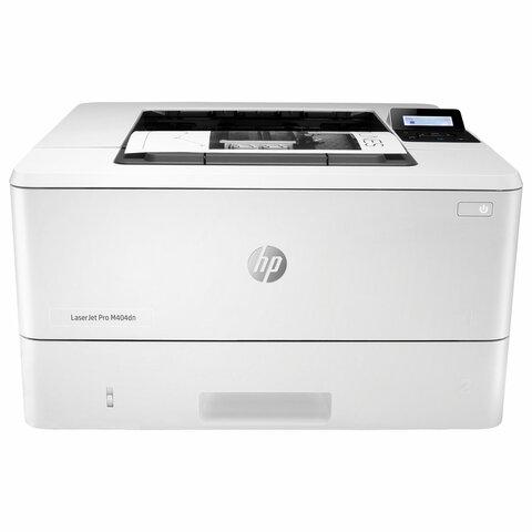 Принтер лазерный HP LaserJet Pro M404dn, А4, 38 стр./минуту, 80000 стр./месяц, ДУПЛЕКС, сетевая карта, W1A53A