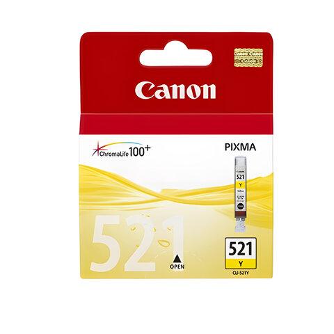 Картридж струйный CANON (CLI-521Y) Pixma MP540/630/980, желтый, оригинальный, 2936B004