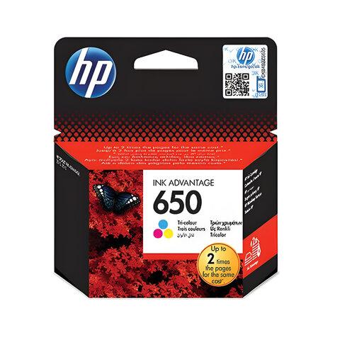 Картридж струйный HP (CZ102AE) Deskjet Ink Advantage 2515/2516 650, цветной, оригинальный
