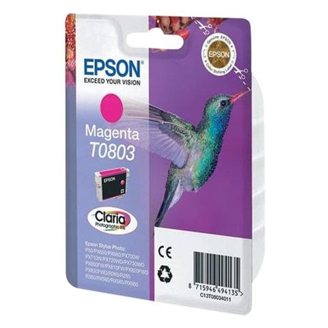 Картридж струйный EPSON (C13T08034011) Stylus P50/PX660/PX700W/RX685/R360, пурпурный, оригинальный