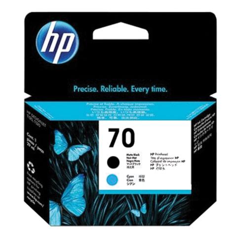 Головка печатающая для плоттера HP (C9404A) DesignJet Z2100/Z3100, 70, матовая черная и голубая, оригинальная