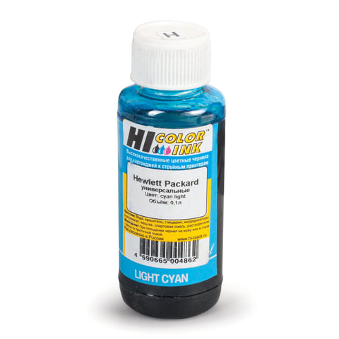 Чернила HI-COLOR для HP универсальные, светло-голубые, 0,1 л, водные, 150701039950U