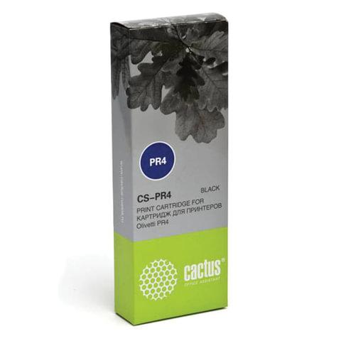 Картридж матричный CACTUS (CS-PR4) для OLIVETTI PR4 DR, черный, ресурс 2,4 млн. знаков