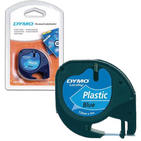Картридж для принтеров этикеток DYMO LetraTag, 12 мм х 4 м, лента пластиковая, синяя, S0721650