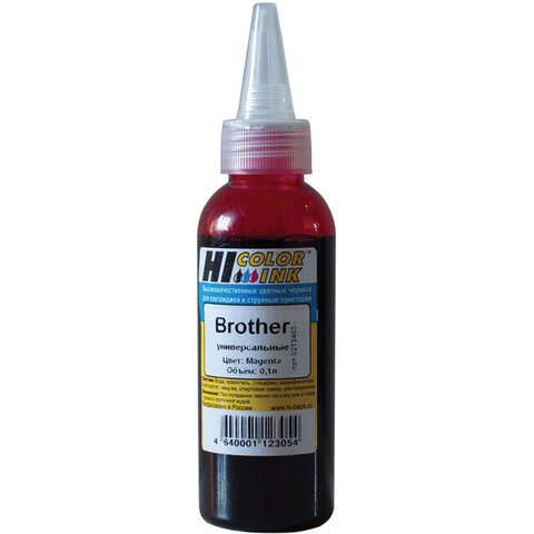 Чернила HI-BLACK для BROTHER (Тип B) универсальные, пурпурные, 0,1 л, водные, 1507010394U