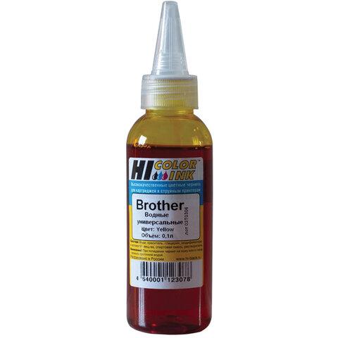 Чернила HI-BLACK для BROTHER (Тип B) универсальные, желтые, 0,1 л, водные, 1507010395U