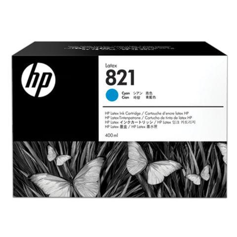 Картридж струйный HP (G0Y86A) Latex 110 Printer, 821, цвет голубой, оригинальный, объем 400 мл.