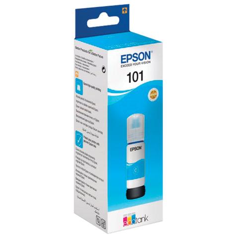 Чернила EPSON (T03V24), для СНПЧ, L4150/ L4160/ L6160/ L6170/ L6190, голубые, 70 мл, ОРИГИНАЛЬНЫЕ, C13T03V24A