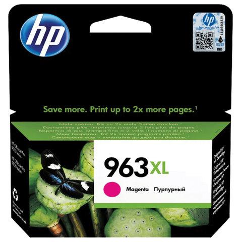 Картридж струйный HP (3JA28AE) для HP OfficeJet Pro 9010/9013/9020/9023, 963XL пурпурный, ресурс 1600 страниц
