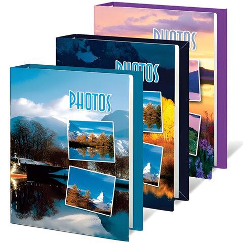 Фотоальбом BRAUBERG на 60 фотографий 10х15 см, твердая обложка,