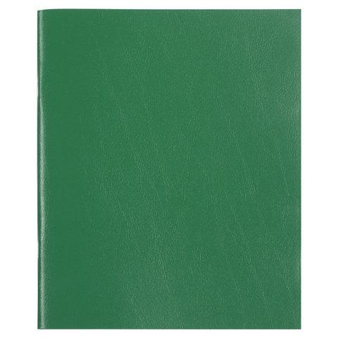 Тетрадь бумвинил, А5, 96 л., скоба, офсет 2 ЭКОНОМ, клетка, с полями, STAFF, ЗЕЛЕНЫЙ, 403416