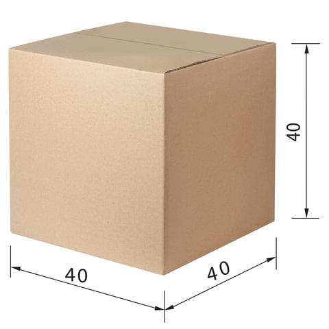 Гофроящик, длина 400 х ширина 400 х высота 400 мм, марка Т23, профиль В, FEFCO 0201 / ГОСТ, исполнение А