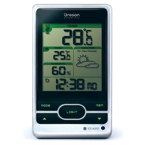 Метеостанция OREGON SCIENTIFIC BAR 206, термодатчик, часы, календарь, черная