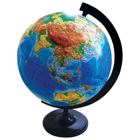 Глобус физический, диаметр 320 мм, рельефный, 10196