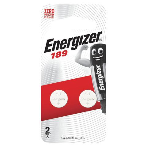 Батарейки ENERGIZER, 189 (G10, LR54), алкалиновые, КОМПЛЕКТ 2 шт., в блистере, E301536700